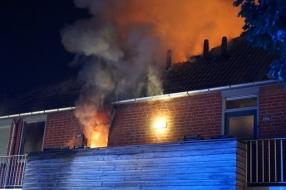 'De vlammen kwamen er geweldig uit', veel schade na brand in Wijchen