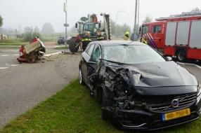 Vrouw gewond bij aanrijding met tractor