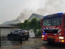 Schuurbrand door blikseminslag in Wijchen